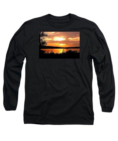 Horn Pond Sunset 2 Long Sleeve T-Shirt