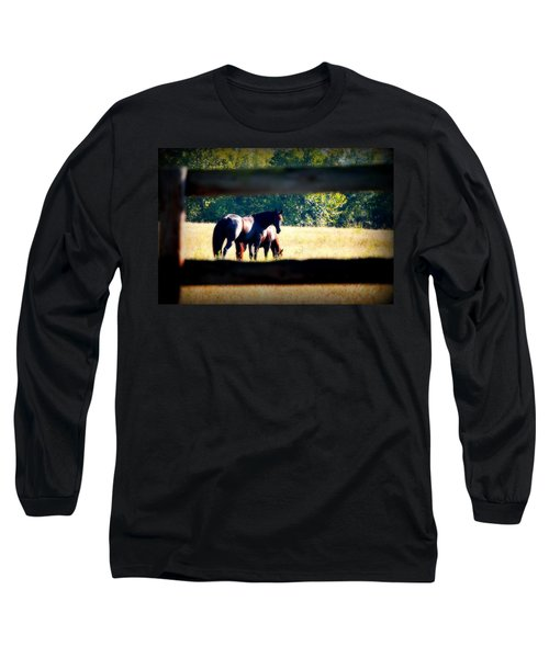 Long Sleeve T-Shirt featuring the photograph Horse Photography by Peggy Franz