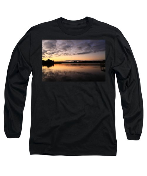 Hungry Fish At Sunrise Long Sleeve T-Shirt by Catie Canetti