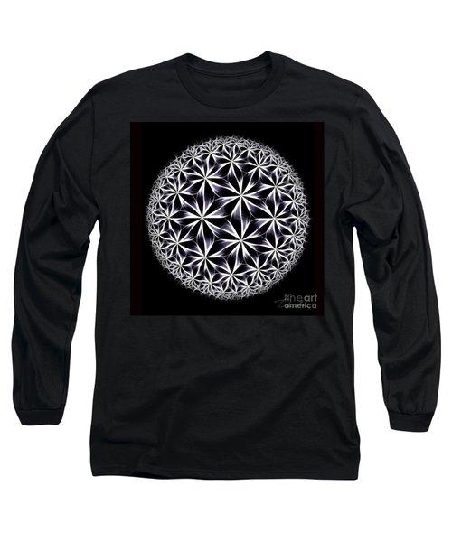 Ice Flowers Long Sleeve T-Shirt by Danuta Bennett
