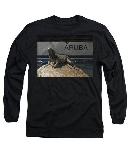 Long Sleeve T-Shirt featuring the photograph Iguana by David Gleeson