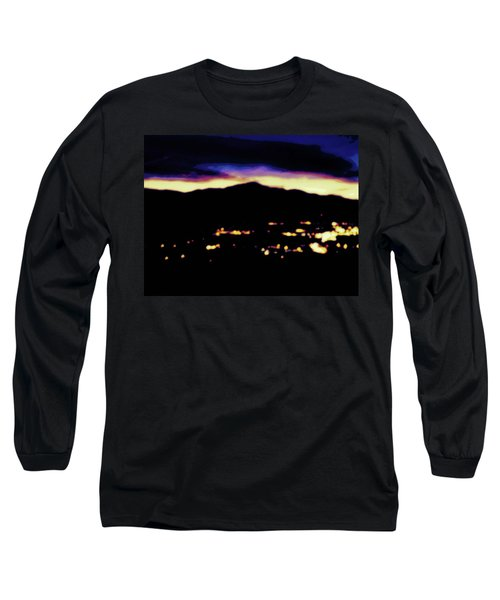 Impressionistic Pikes Peak Long Sleeve T-Shirt by Clarice  Lakota