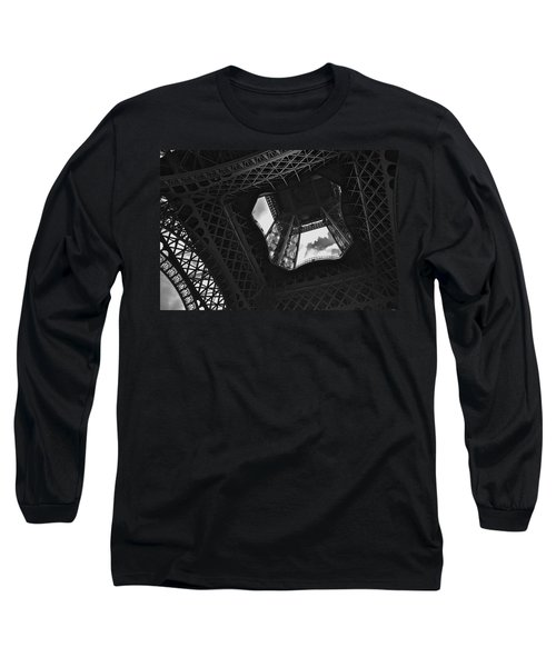 Long Sleeve T-Shirt featuring the photograph Inside The Eiffel Tower by Eric Tressler