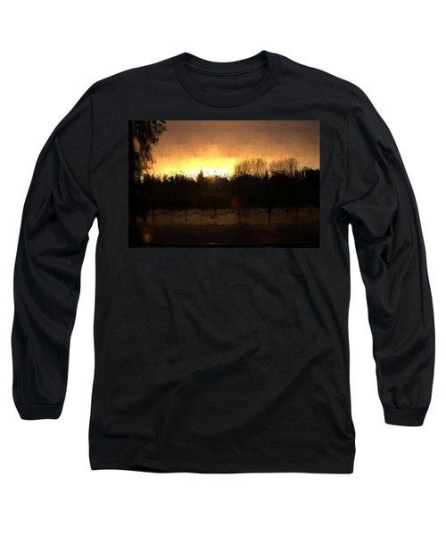 Long Sleeve T-Shirt featuring the mixed media Insomnia II by Terence Morrissey