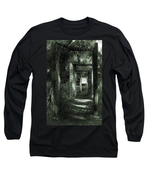 Long Sleeve T-Shirt featuring the photograph Into The Butterfly Garden Green by DigiArt Diaries by Vicky B Fuller