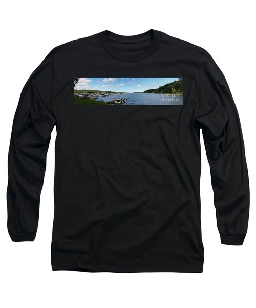 Long Sleeve T-Shirt featuring the photograph Irondequoit Bay Panorama by William Norton