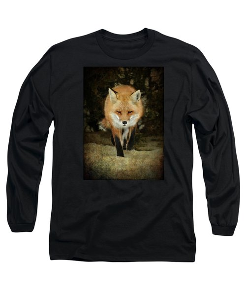Long Sleeve T-Shirt featuring the photograph Island Beach Fox by Sami Martin