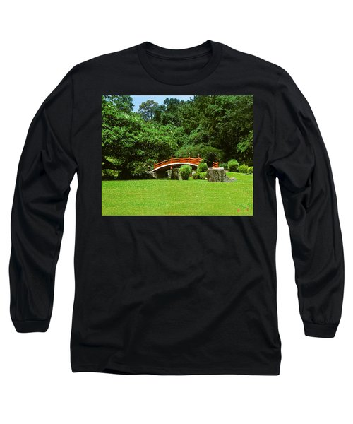 Japanese Garden Bridge 21m Long Sleeve T-Shirt