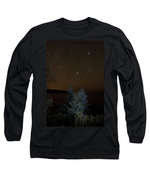 Long Sleeve T-Shirt featuring the photograph Jupiter  Over Otter Point 2 by Brent L Ander