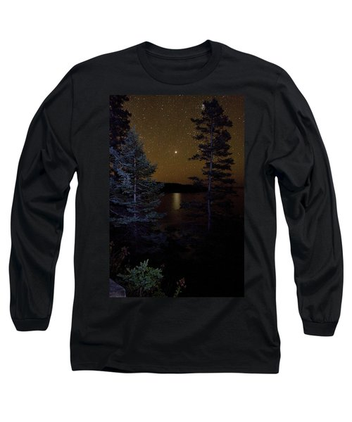 Jupiter Rising Over Otter Point Long Sleeve T-Shirt by Brent L Ander