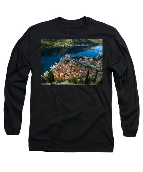 Long Sleeve T-Shirt featuring the photograph Kotor Montenegro by David Gleeson