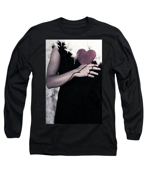 Lady With Blood And Heart Long Sleeve T-Shirt by Joana Kruse