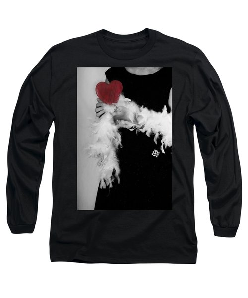 Lady With Heart Long Sleeve T-Shirt by Joana Kruse