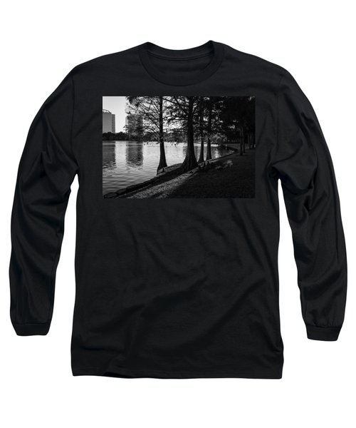 Long Sleeve T-Shirt featuring the photograph Lake Eola Water Edge by Lynn Palmer