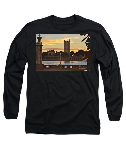 Long Sleeve T-Shirt featuring the photograph Lake Mirror Sunset by Carol  Bradley