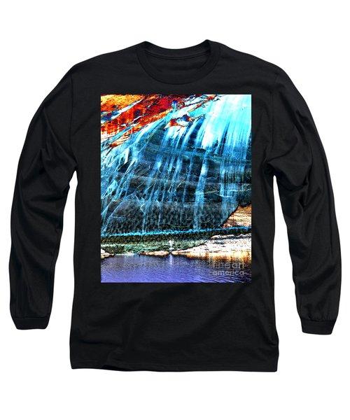Lake Powell Reflection Long Sleeve T-Shirt by Rebecca Margraf