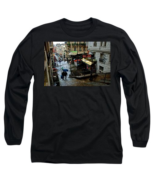 Lamarck-caulaincourt Metro Stop Long Sleeve T-Shirt