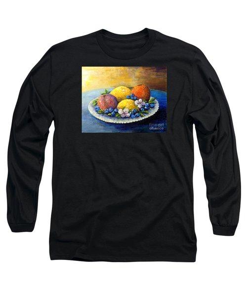 Lemons And Blueberries Long Sleeve T-Shirt