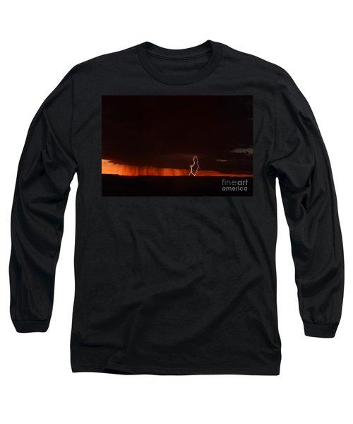Lightning At The Grand Canyon Long Sleeve T-Shirt