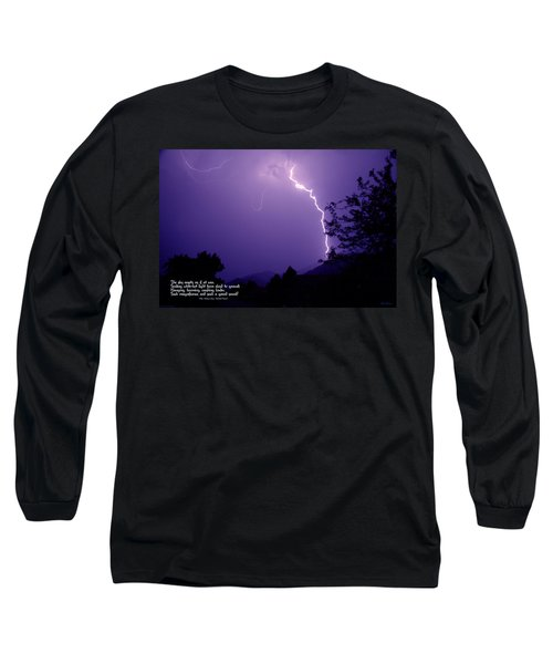 Lightning Over The Rogue Valley Long Sleeve T-Shirt