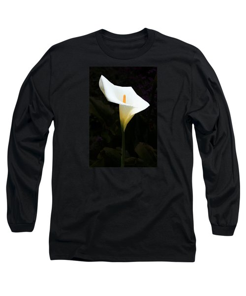Lily On Black Long Sleeve T-Shirt