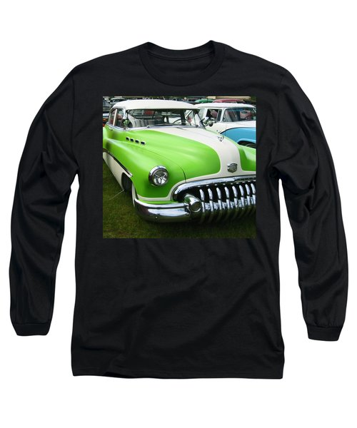 Long Sleeve T-Shirt featuring the photograph Lime Green 1950s Buick by Kym Backland