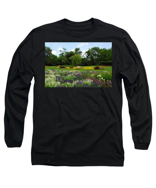 Lincoln Park Gardens Long Sleeve T-Shirt by Lynn Bauer