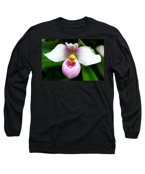 Little White And Pink Orchid Long Sleeve T-Shirt