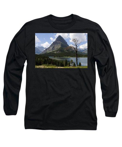Lone Tree At Sinopah Mountain Long Sleeve T-Shirt