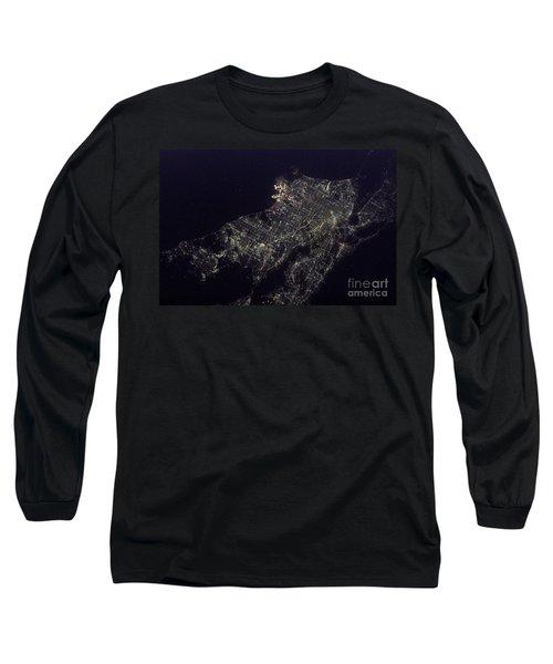 Los Angeles At Night Long Sleeve T-Shirt