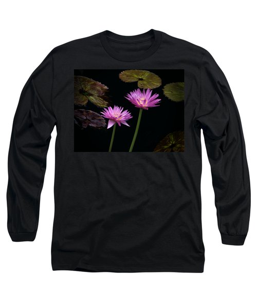 Lotus Water Lilies Long Sleeve T-Shirt