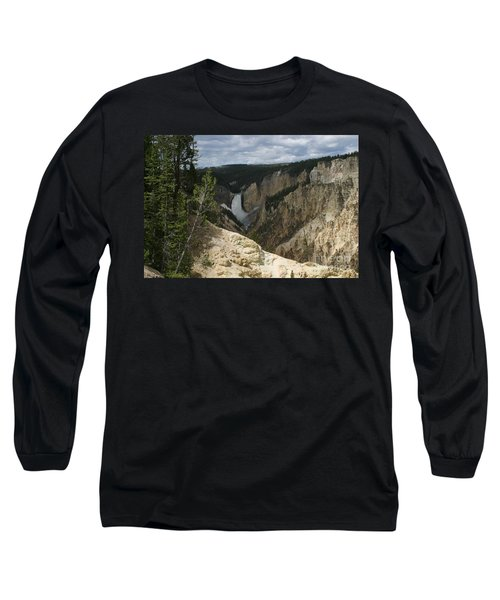 Lower Falls Of Yellowstone Long Sleeve T-Shirt by Living Color Photography Lorraine Lynch