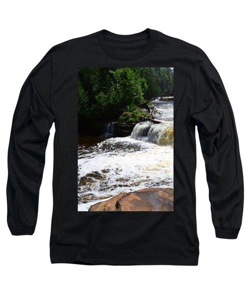 Lower Tahquamenon Falls Lll Long Sleeve T-Shirt