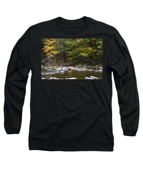 Loyalsock Creek Flowing Gently Long Sleeve T-Shirt