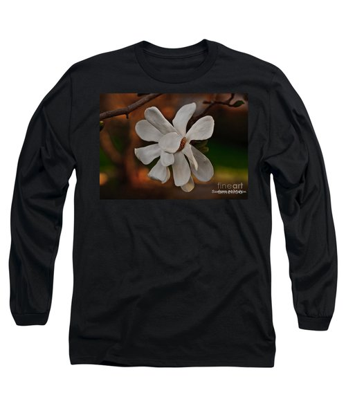 Long Sleeve T-Shirt featuring the photograph Magnolia Bloom by Barbara McMahon
