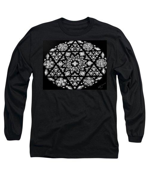 Mandala Of Hope Phase 1 Long Sleeve T-Shirt by Lisa Brandel