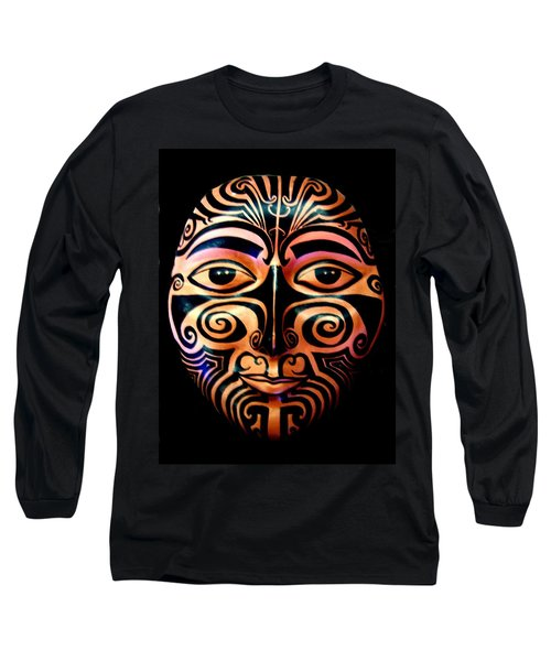 Maori Mask Long Sleeve T-Shirt