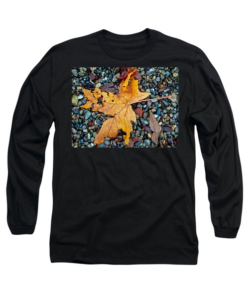 Long Sleeve T-Shirt featuring the photograph Maple Leaf On The Rocks by Tikvah's Hope