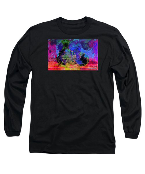 Long Sleeve T-Shirt featuring the painting Mapped In Time  Pottery Collection by Sherri  Of Palm Springs