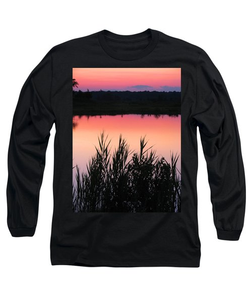 Long Sleeve T-Shirt featuring the photograph Marsh Sunset by Clara Sue Beym