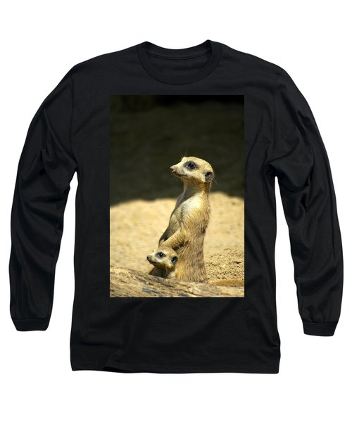 Meerkat Mother And Baby Long Sleeve T-Shirt