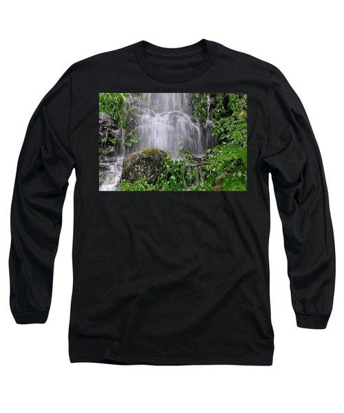 Mendenhall Glacier Flooding Waterfall Juneau Alaska 1542 Long Sleeve T-Shirt