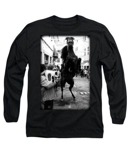 Long Sleeve T-Shirt featuring the photograph Menorca Horse 3 by Pedro Cardona