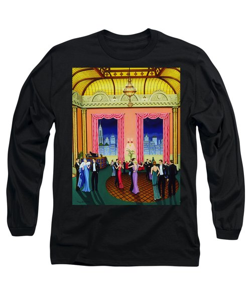 Midnight In Manhattan Long Sleeve T-Shirt by Tracy Dennison