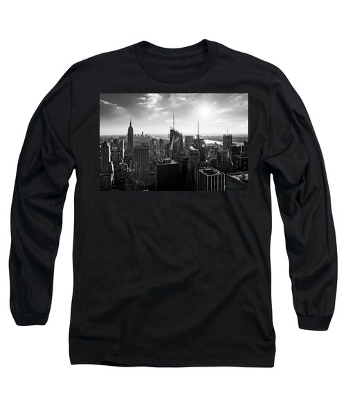 Midtown Skyline Infrared Long Sleeve T-Shirt