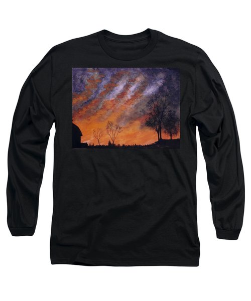 Long Sleeve T-Shirt featuring the painting Midwest Sunset by Stacy C Bottoms