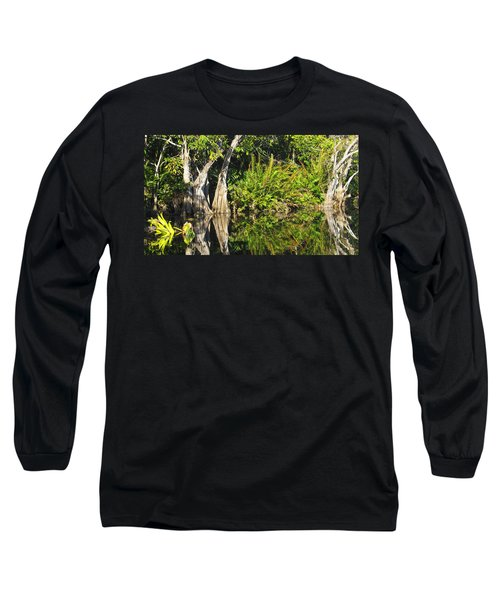 Mirror Pond Long Sleeve T-Shirt by Anne Mott