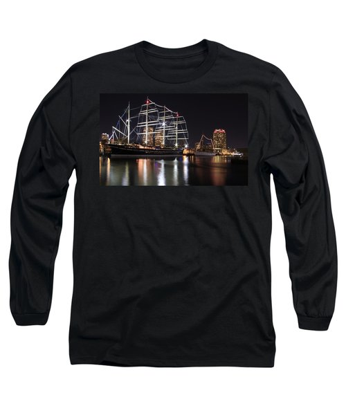 Long Sleeve T-Shirt featuring the photograph Missoula At Nighttime by Alice Gipson