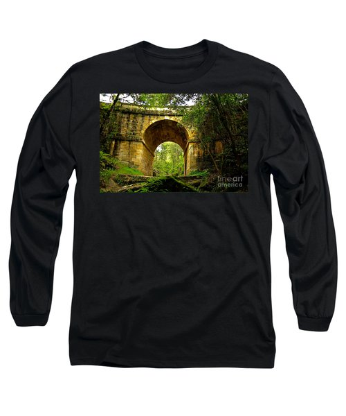 Mitchells Pass Bridge Lapstone A Convict Built Bridge Long Sleeve T-Shirt