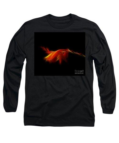 Long Sleeve T-Shirt featuring the photograph Montbretia by Lynn Bolt